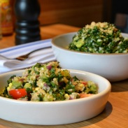 white house tabbouleh and kale salad