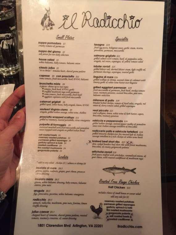 radiccio-menu