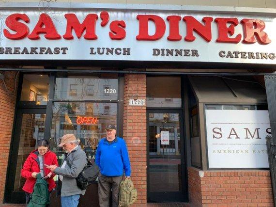 Sam's Diner out